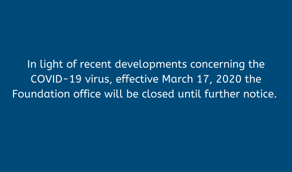 Message explaining office closure due to COVID-19 virus, effective March 17, 2020
